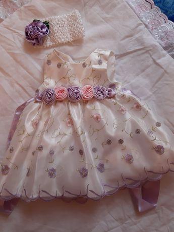Платье  на крестины + конверт на выписку