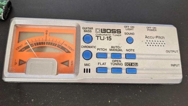 BOSS TU-15 Tuner Chromatyczny Gitarowy Basowy