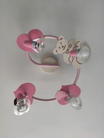 Żyrandol dla dziewczynki Miś Serduszka