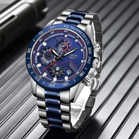 Nowy Zegarek LIGE 9982 chronograf Pudełko