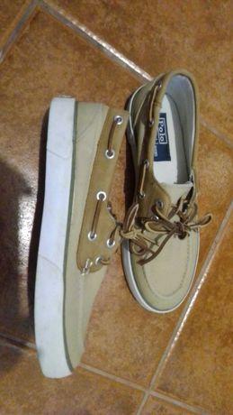 Sapatos Polo tecido