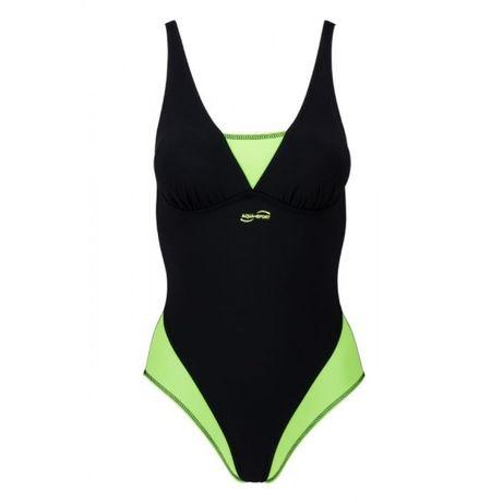 Aqua-sport kostium basenowy pływacki royal slim lime green-black roz L