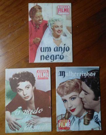 """3 Revistas """"Novela e Filme"""" dos anos 50"""