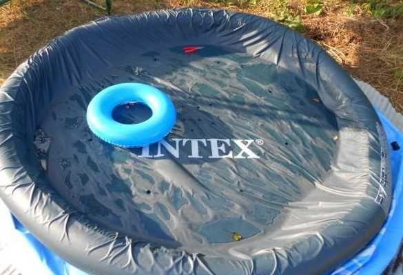 бассейн, наливной - Прочный Intex компактный 900л и система слива