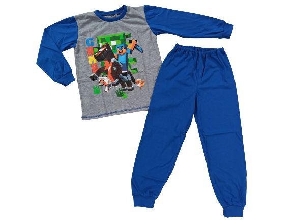 Piżama bawełniana bluzka spodnie Minecraft 116,122,128,134,140,146,152