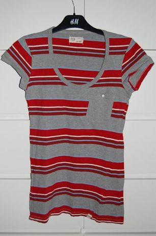 Bluzeczka T-shirt w paseczki CROCKER r. 36 S