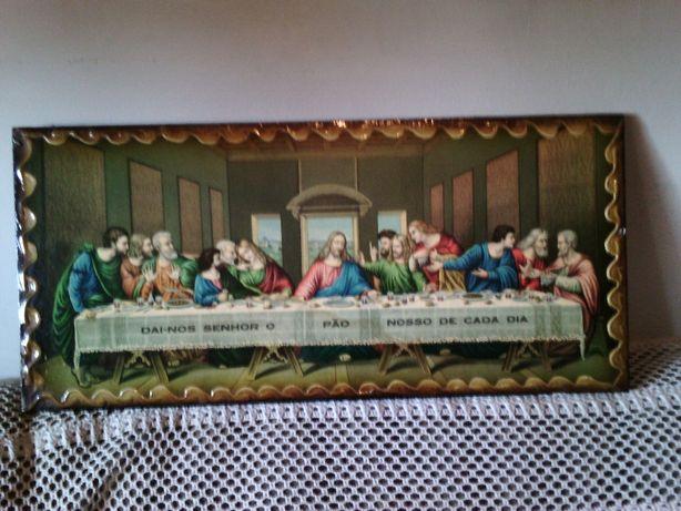 quadro pintada á mão da Mesa dos Apóstolos muito antiga