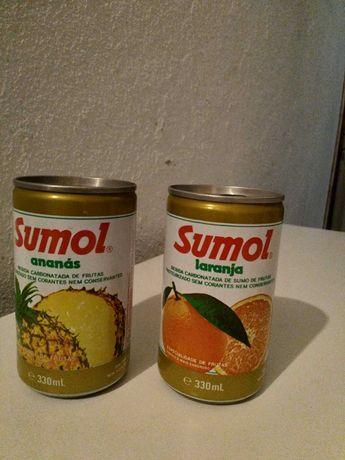 2 Latas de coleção da marca SUMOL (Laranja e Ananás) de 1988