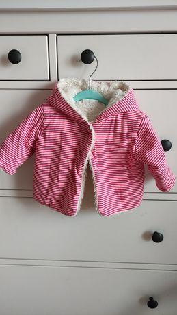 Mięciutka bluza z kapturem/kurtka wiosenna/futerko dziewczynka 62