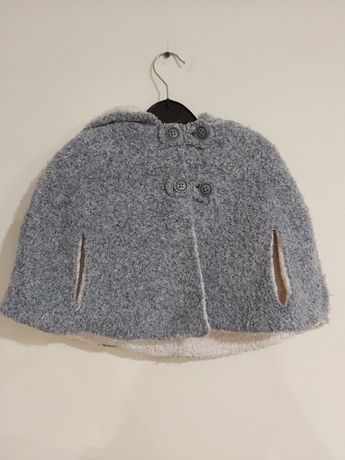 Пончо zara/пальто/куртка/шерстяное/zara baby/зара