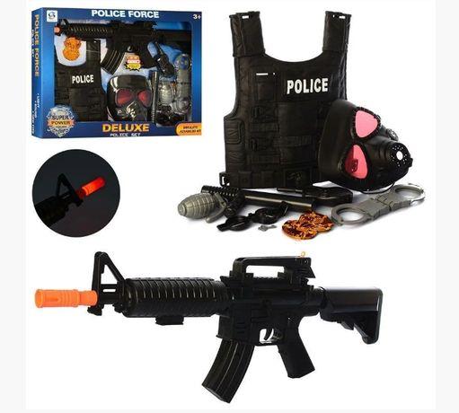 Детский набор полицейского HSY-030 бронежилет, автомат, маска