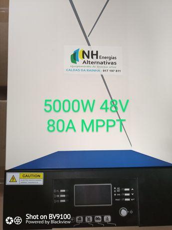 Inversor Conversor Hibrido 6KVA 5000W 48V Onda Pura 80A MPPT
