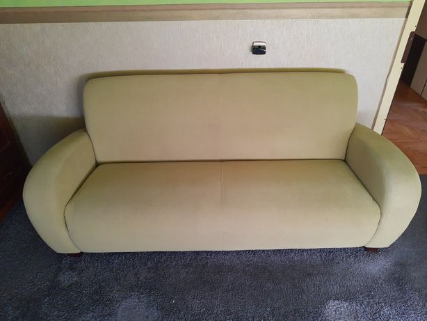 Komplet wypoczynkowy sofa i dwa fotele zielone