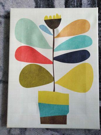 Obraz w klimacie PRL lat 60/70 mid modern modernizm