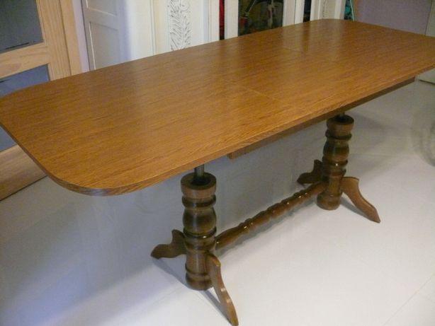 ławostół ława stół drewniane toczone nogi rozkładany regulowan wysokoś