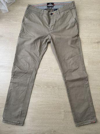 Spodnie męskie Superdry 33x32 XL beżowe jasne