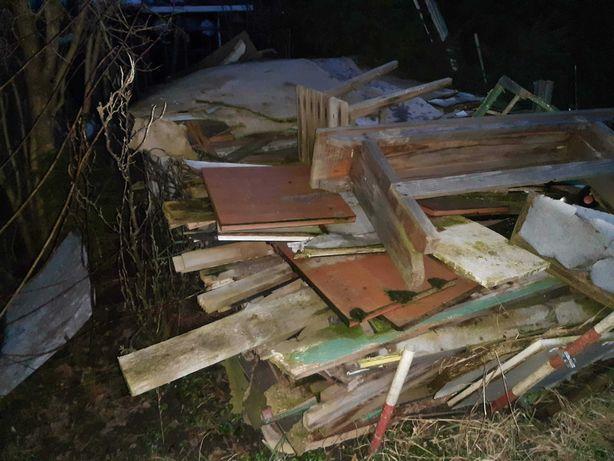 Drewno deski rozbiórkowe opałowe