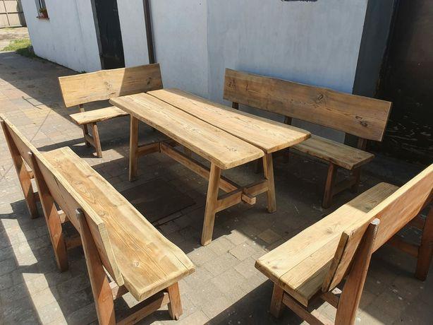 Komplet mebli stół + 4 ławki