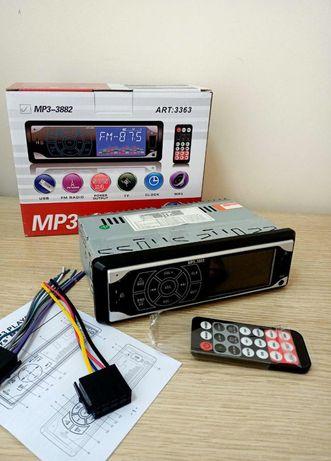 Магнитола в авто 1DIN сенсоврный дисплей с пультом MP3 UKC
