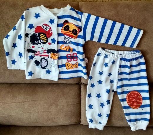 Летний костюм(80 грн), джинсы, рубашка, кофта на мальчика (9-12мес)