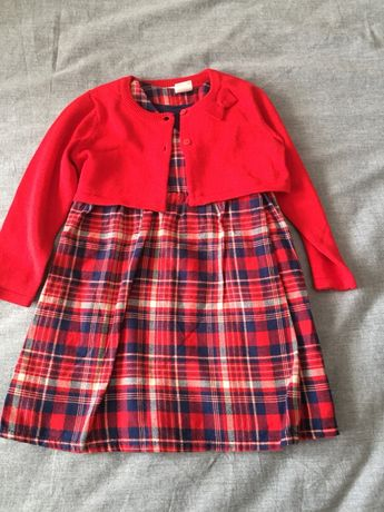 Conjunto vestido casaco HM novo tamanho 12-18 meses