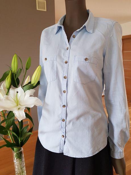 Koszula RESERVED niebieska rozm. 38