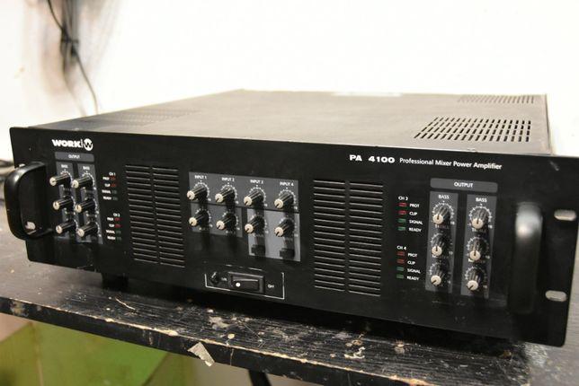 Wzmacniacz Końcówka mocy WORK PA4100 4X250W 100V 4ohm