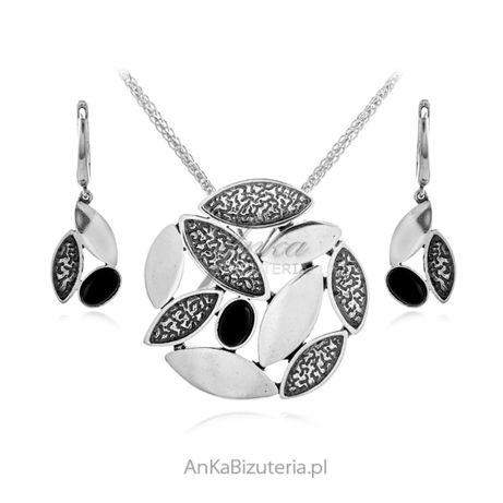 ankabizuteria.pl cos biżuteria Srebrna zawieszka z szarym uleksytem
