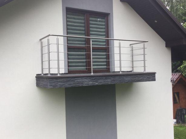 Balustrada Balkonowa Tarasy Schody Ze Stali Nierdzewnej