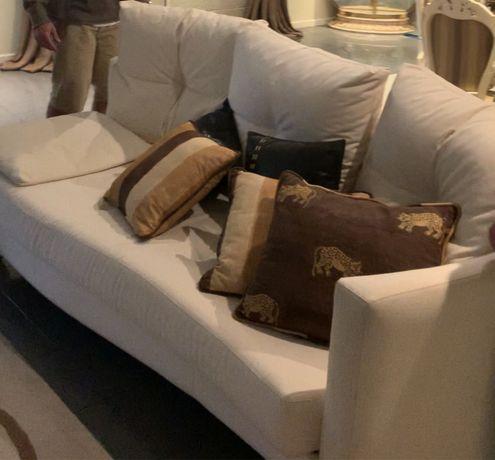 Sofa branco de 3 lugares