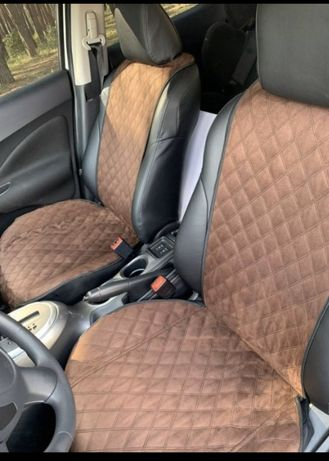Накидки на сидения в авто из Алькантара разных цветов.Чехлы.