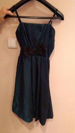 Sprzedam sukienkę niebieską rozmiar M i czarne bolerko