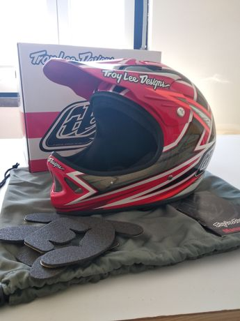 Capacete full face integral Troy Lee designs downhill