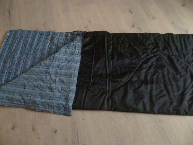 Śpiwór czarny zasuwany 180 x 140