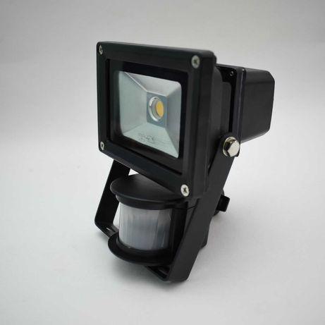 LED прожектор LSLB 10 B2 Livarno з датчиком руху, чорний білий.