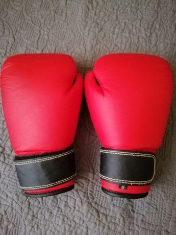 перчатки для занятий спорта боксерски размер М кожа