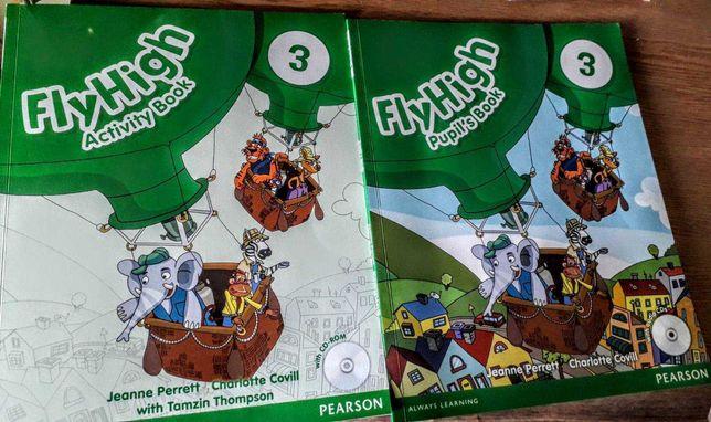 Продам учебник и тетрадь fly high по английскому с диском