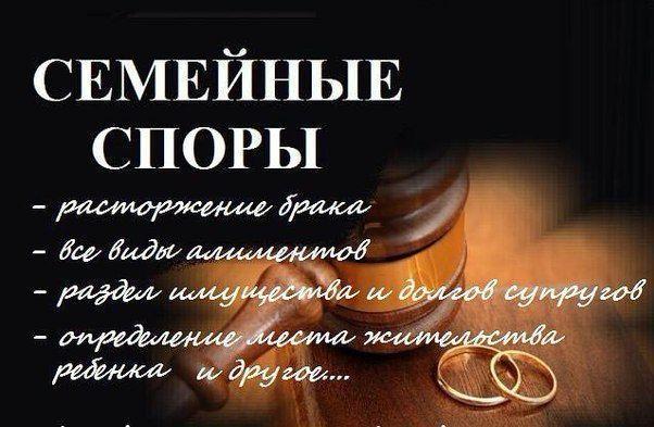 Адвокат (развод, алименты, временный выезд ребенка за границу)