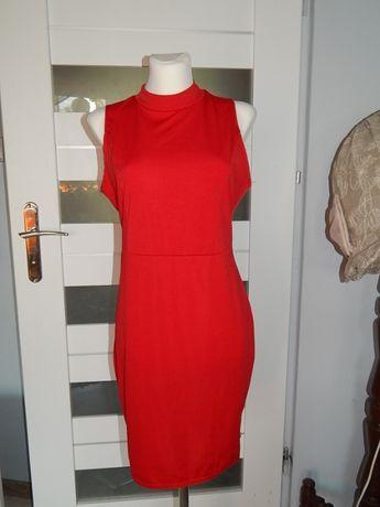 śliczna elegancka czerwona sukienka 36-38