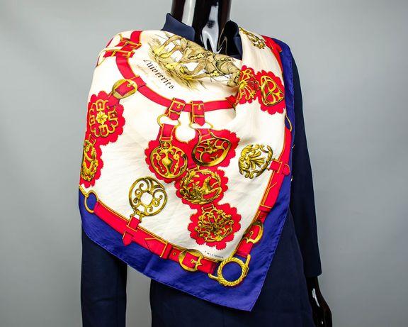 Фирменный шелковый платок Hermes Cuivreries.Большой платочек.Роуль