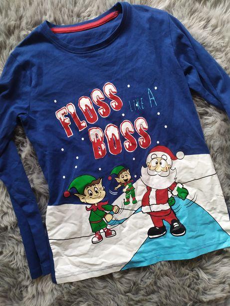 Koszulka chłopięca świąteczna Mikołaj