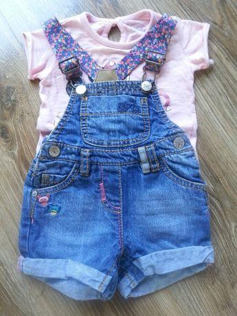 Spodenki jeans śliczne Next 6-8m