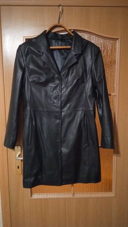 Кожаная куртка пальто 44р