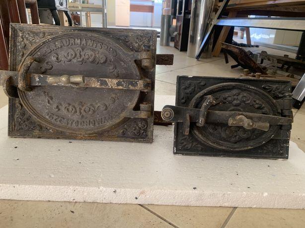 Drzwiczki żeliwne do pieca kaflowego, kominka lub wędzarni