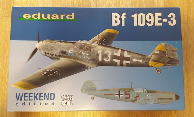 Модель самолета Bf-109E-3 в масштабе 1/48, Eduard