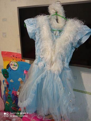 Платье снежинки , снегурочки