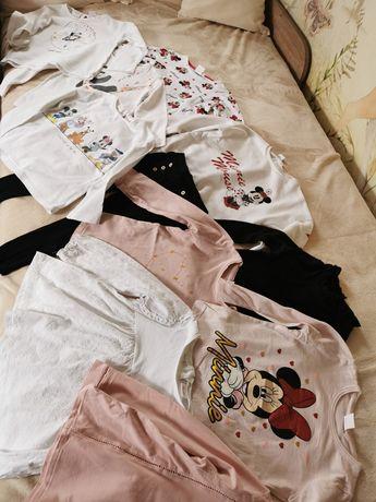 Paka 104 koszulki z dlugim rękawem sama Zara jak nowe 11 sztuk