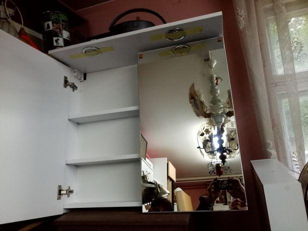 Szafka łazienkowa z lustrem i oświetleniem 80 x 74