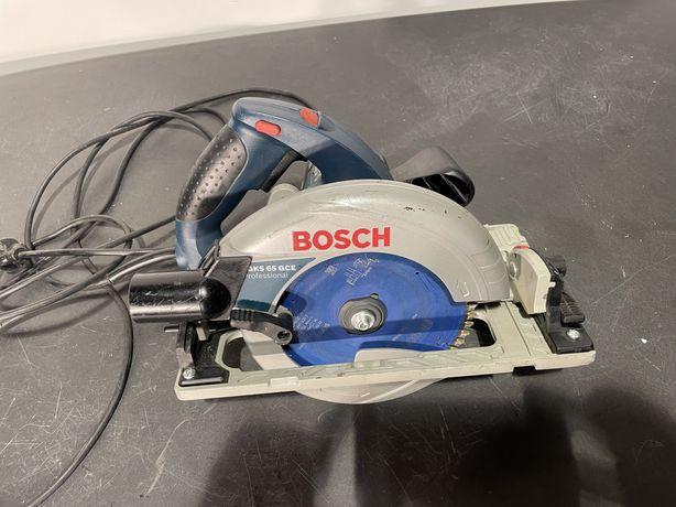 Ручная циркулярная пила Bosch GKS 65 GCE оригинал дисковая погружная