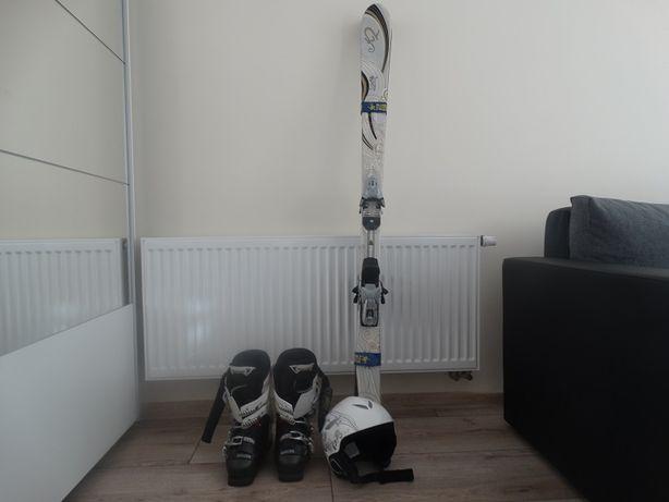buty narciarskie damskie , narty + kask